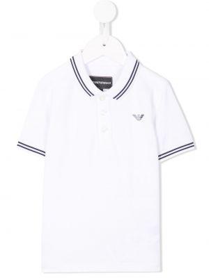Рубашка белая синий Emporio Armani Kids