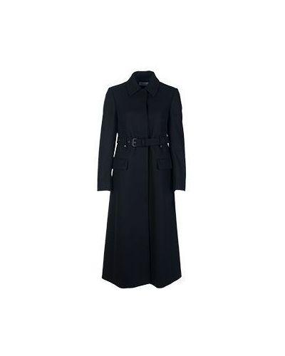 Пальто классическое с отложным воротником осеннее шерстяное Valentino Red