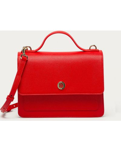 Czerwona torba z krótkimi uchwytami Tommy Hilfiger