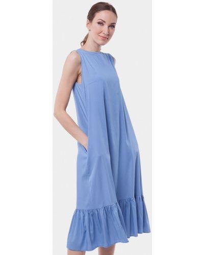 Голубое платье миди Vladi Collection