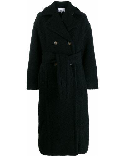 Длинное пальто оверсайз шерстяное Ganni