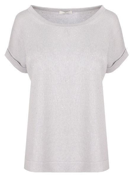 Футбольная базовая серая футболка с круглым вырезом Panicale