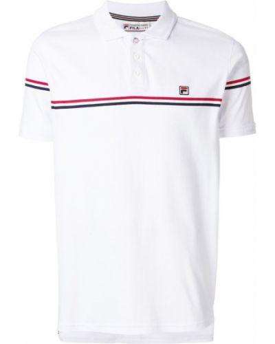 Белая футболка в полоску Fila