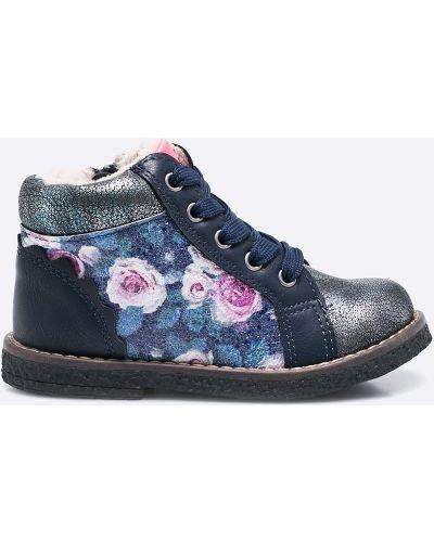 Синие ботинки теплые American Club