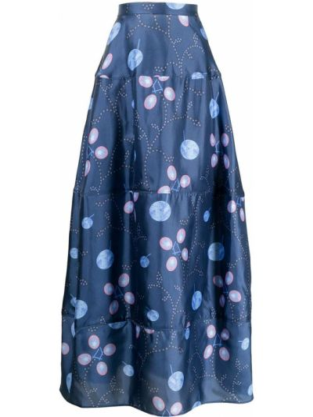 Синяя шелковая юбка Giorgio Armani