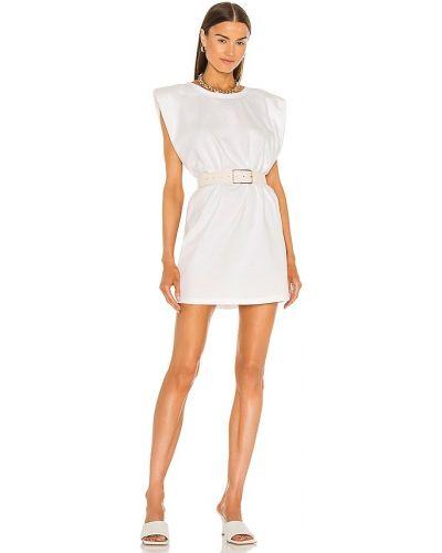 Домашнее белое платье мини с поясом Bardot
