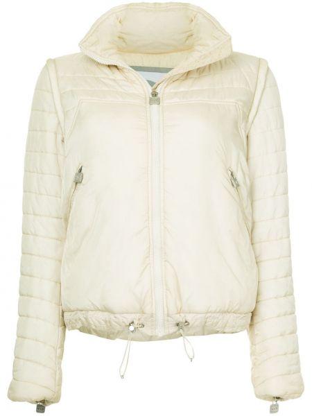 Белая куртка на молнии с манжетами с воротником Chanel Pre-owned