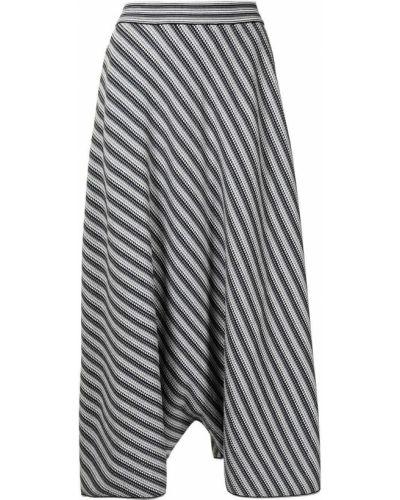 Серая юбка в полоску Giorgio Armani