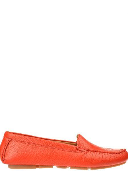 Мокасины кожаные красные Gianni Famoso