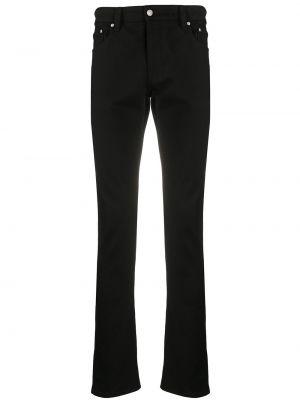 Klasyczne czarne jeansy skorzane Ami