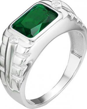 Кольцо с кварцем - зеленое серебро россии
