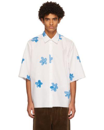 Белая рубашка с коротким рукавом с воротником с манжетами с короткими рукавами Camiel Fortgens