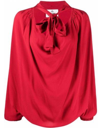 Красная блузка с драпировкой с завязками Vivienne Westwood