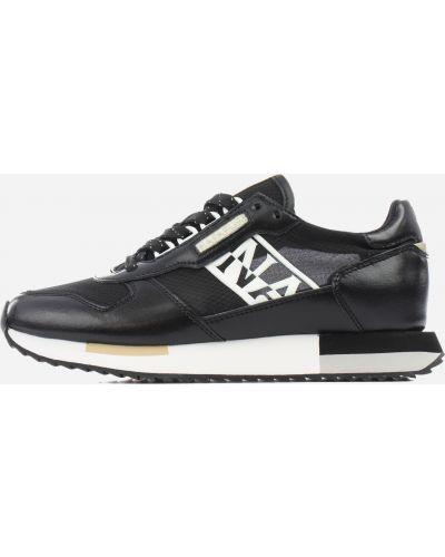 Кроссовки с логотипом - черные Napapijri