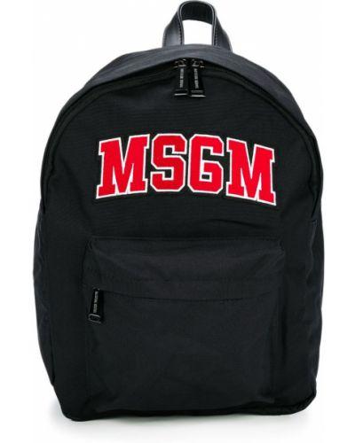 Рюкзак черный с логотипом Msgm Kids