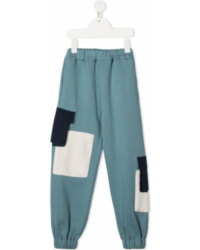 Спортивные нейлоновые синие брюки с поясом Owa Yurika
