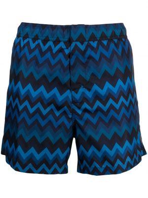 Синие шорты для плаванья с карманами Missoni
