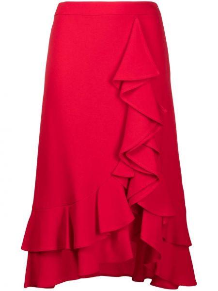 Красная юбка с оборками Lautre Chose