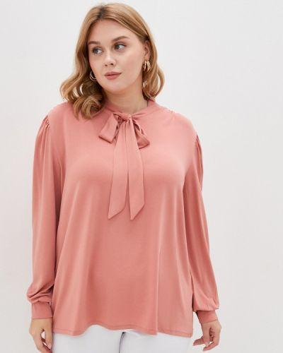 Розовая блузка с бантом Junarose