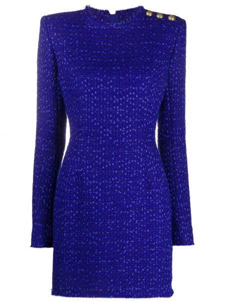 Акриловое платье с тиснением Balmain