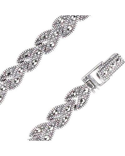 Браслет серебряный с камнями марказит