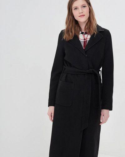 Черное пальто демисезонное La Reine Blanche