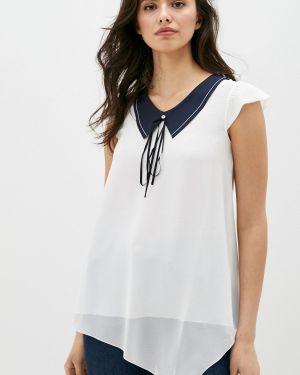 Блузка с коротким рукавом белая весенний High