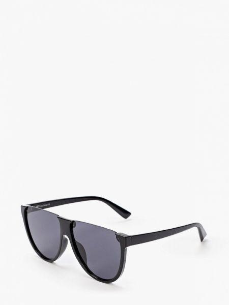 Солнцезащитные очки авиаторы черные Fabretti