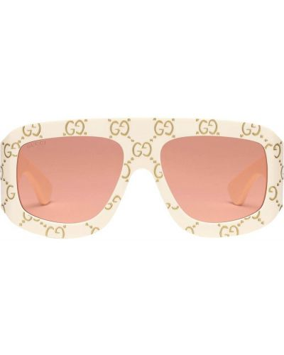 Pomarańczowe okulary z printem Gucci Eyewear