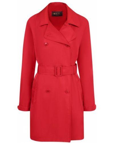 Пальто с поясом шелковое Loro Piana