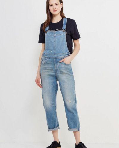 Синий джинсовый комбинезон G-star