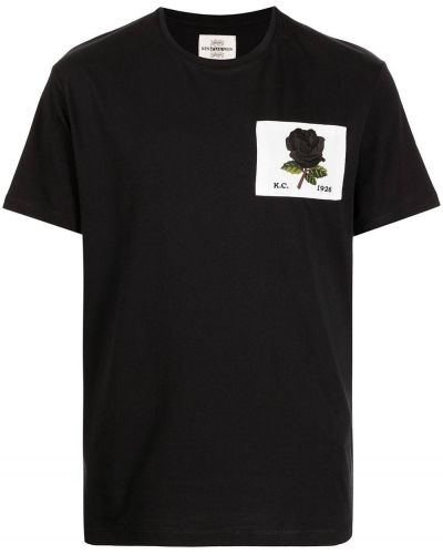 Czarna koszulka bawełniana Kent & Curwen