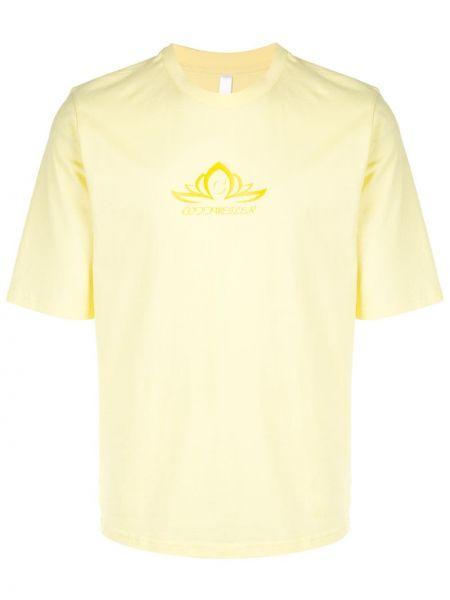 Żółty t-shirt bawełniany krótki rękaw Cottweiler