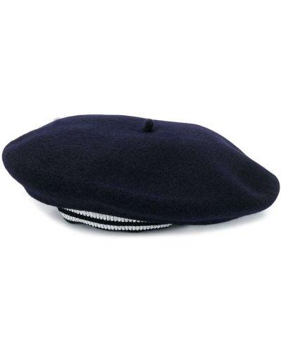 Niebieska czapka prążkowana Bonpoint