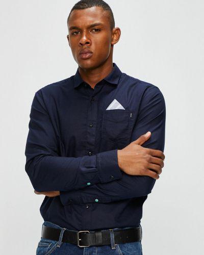 Рубашка с длинным рукавом однотонная хлопковая Scotch & Soda