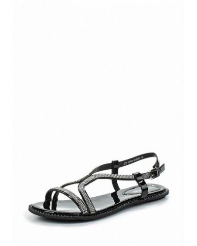 Черные кожаные сандалии Instreet