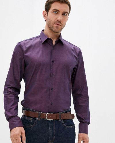 Фиолетовая рубашка осенняя Boss
