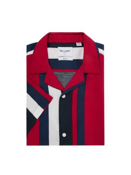 Koszula krótkie z krótkim rękawem w paski z paskami Only & Sons