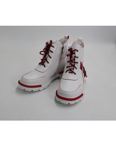 Кожаные ботинки - белые Gabis