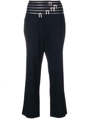 Черные укороченные брюки винтажные с поясом Jil Sander Pre-owned
