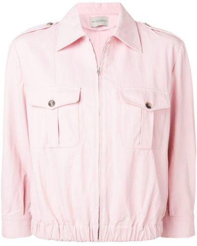 Розовая куртка с манжетами Holland & Holland