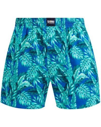 Zielone majtki szorty bawełniane zapinane na guziki Happy Shorts
