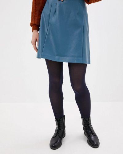 Кожаная юбка синяя Befree