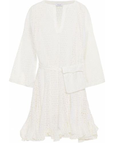 Biała sukienka mini bawełniana Rhode