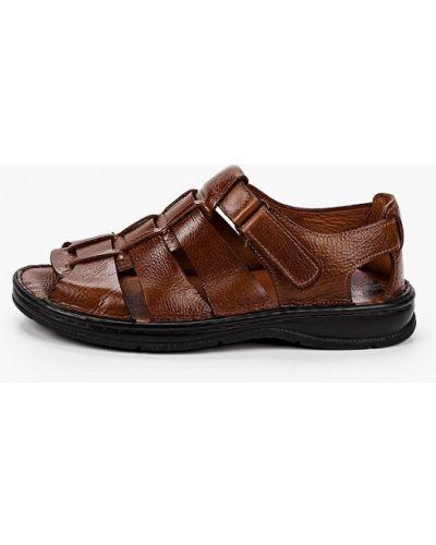 Коричневые кожаные сандалии Beppi