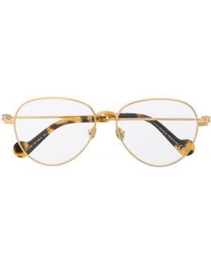 Желтые очки для зрения круглые металлические Moncler Eyewear