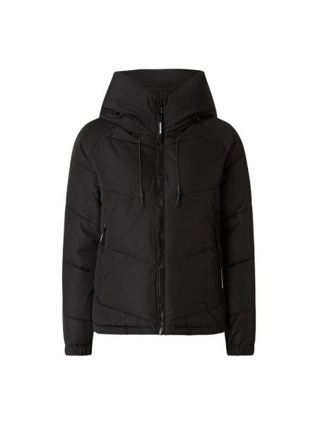 Czarna kurtka pikowana z raglanowymi rękawami Khujo