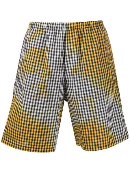Хлопковые желтые шорты эластичные Ottolinger