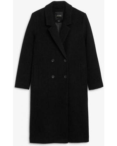 Шерстяное пальто - черное Monki