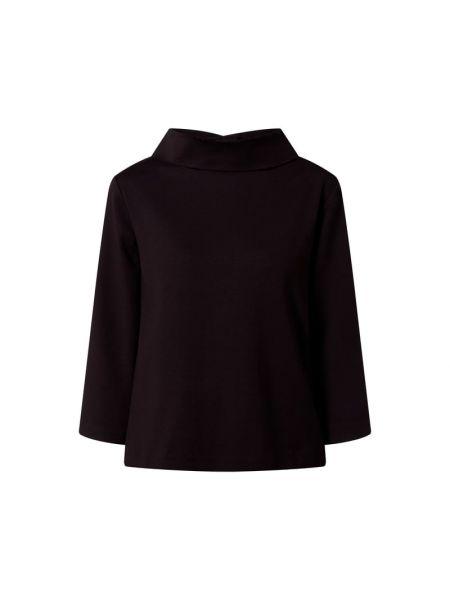 Czarna bluzka z wiskozy rozkloszowana Riani